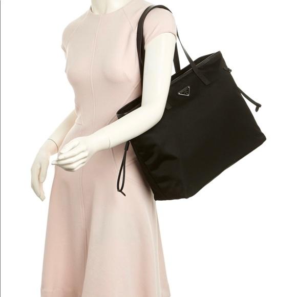 62b8a82bcb06c9 Prada Bags | Vela Nylon Sidecinch Shopping Tote | Poshmark